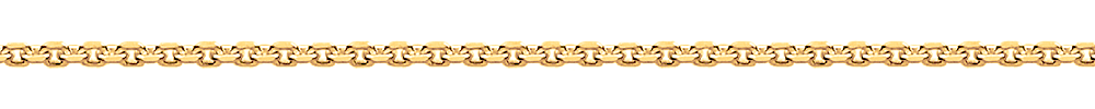 Silver Yellow Gold Plated Forzatina Chain from Italy