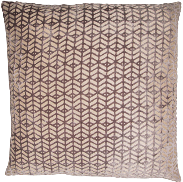 Geometric Velvet Grey Cushion