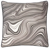 Warped Black and White Cushion