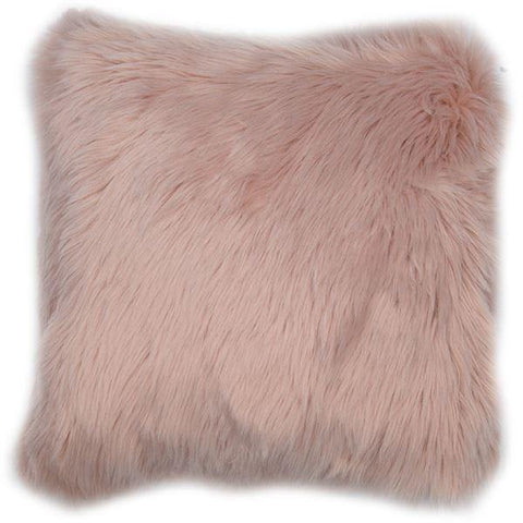 Fluffy Pink Cushion