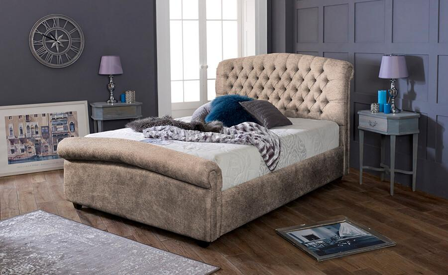 The Yasmin Bed - King - Leather Marble
