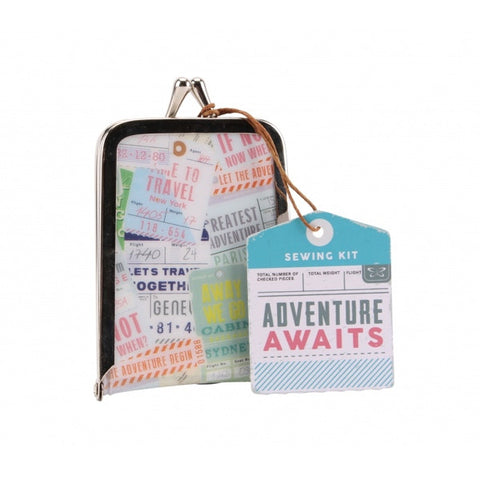 Adventure Awaits Vintage style sewing Kit