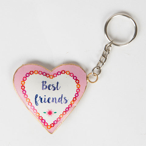 Flower Pop Keyring - Best Friends multicoloured keyring