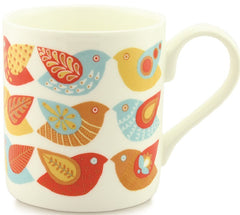 Bone China Mug - Birds Design, Alice Melvin Mug