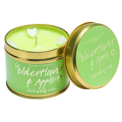 Bomb Cosmetics Tinned Candle - Elderflower and Apple  Scented Candle