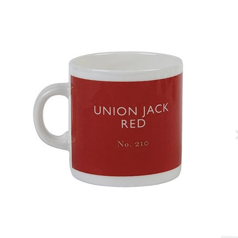 British Colour Standard Union Jack Red Bone China Espresso Cup