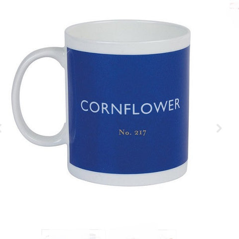 British Colour Standard Cornflower Blue Bone China Mug