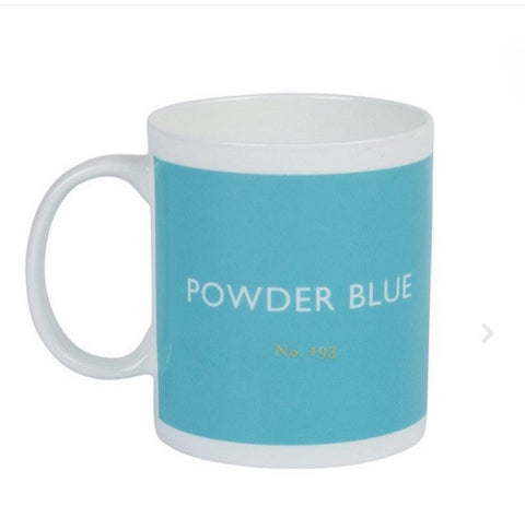 British Colour Standard Powder Blue Bone China Mug