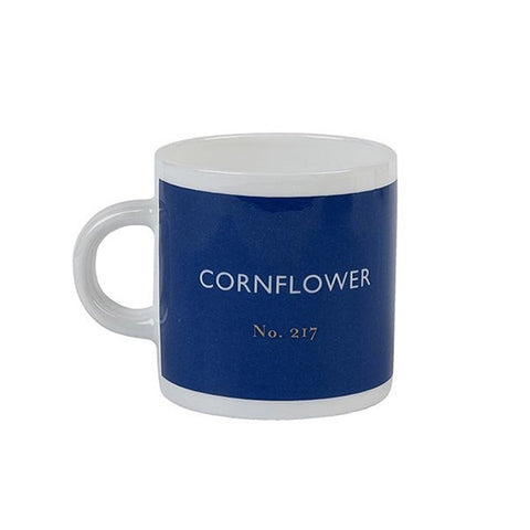 British Colour Standard Cornflower Blue Bone China Espresso Cup