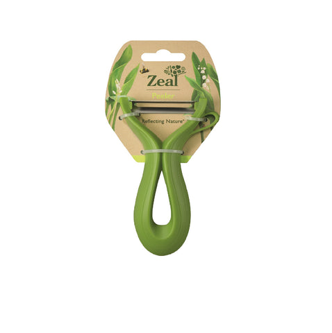 CKS Zeal Nature's leaf plastic peeler (13.5cm) - Red and Green