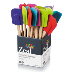 CKS Zeal Silicone Spatula with Wooden handle - Various Colours