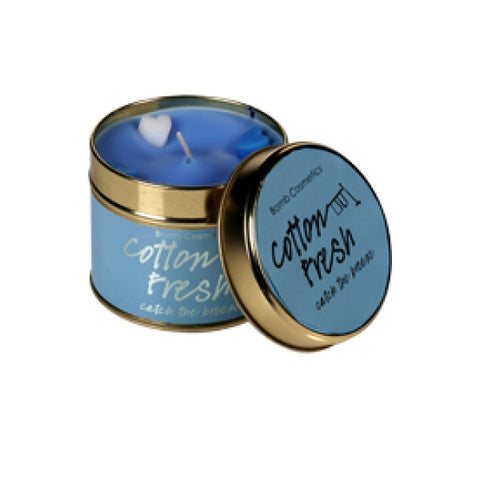 Tinned Candle - Cotton Fresh Scented Candle