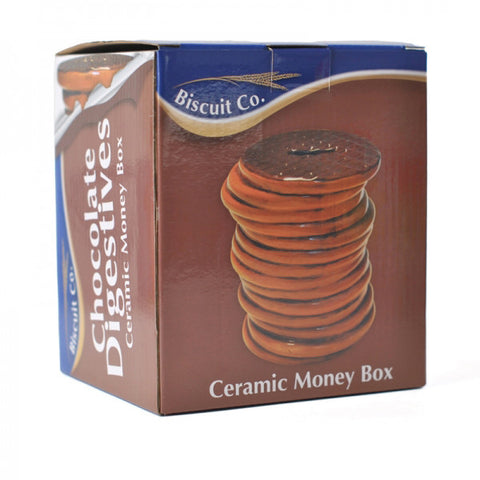Chocolate Biscuit Ceramic Money Box - Gift boxed. Good enough to eat