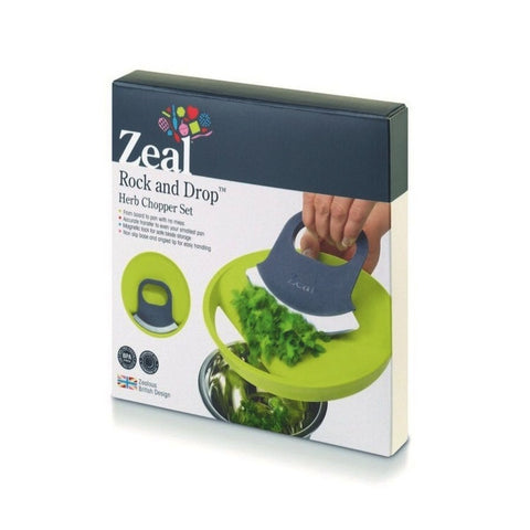 Chop and Drop Herb Cutting Set - Green. CKS Zeal