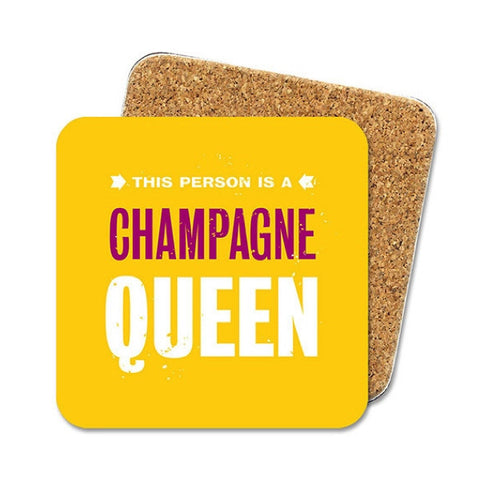 Brainbox Candy Cork backed Coaster - Champagne Queen