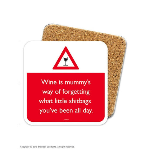 Brainbox Candy Cork backed Coaster - Wine and Forgetting