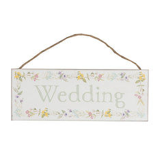 Wildflower Design Wedding Multi coloured Plaque - Hanging plaque