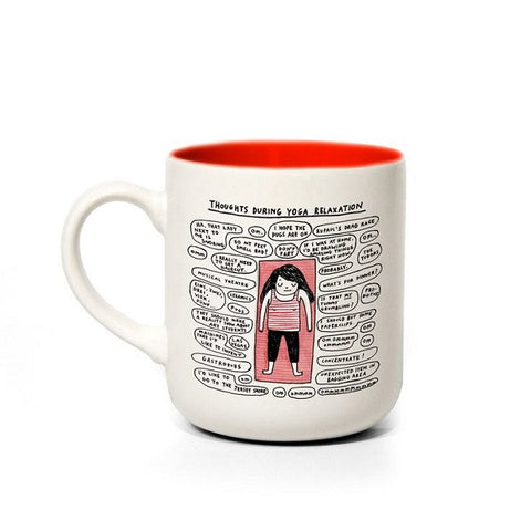 Four Eyes Boxed Ceramic Mug - Yoga, Gemma Correll Design