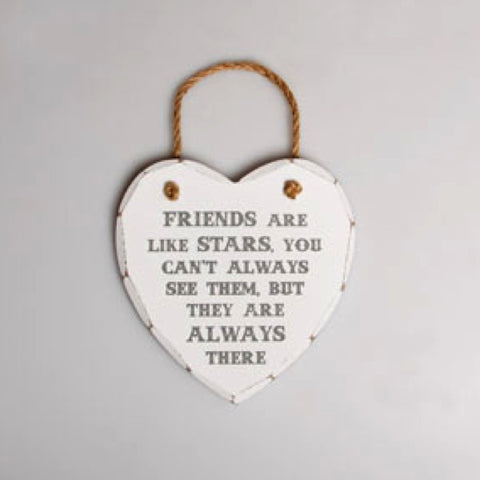Friends Are Like Stars Heart Plaque - Hanging plaque