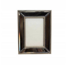 Gisela Graham Antiqued Silver Mirrored Edge Portrait Picture Frame
