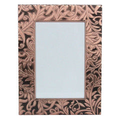 Gisela Graham - Dark Copper Embossed Metal Picture Frame 15.5x22x 1.5cm