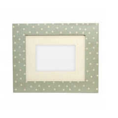 Gisela Graham Duck Egg with Ecru Spotty wood Picture/Photo Frame
