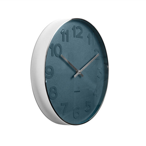 Karlsson Clock - Karlsson KA5634 Mr Blue Numbers Clock 37.5cm