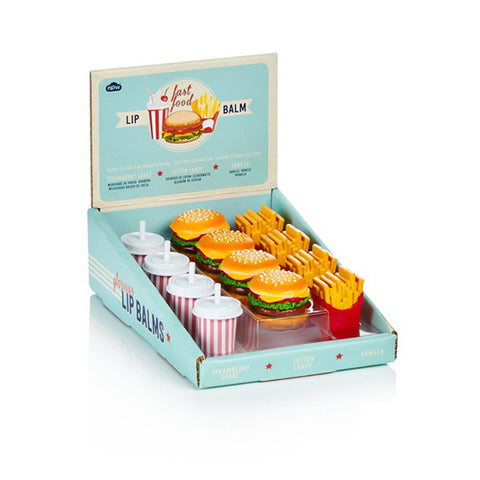 NPW Fast Food Shaped lip balm -  Three flavours available