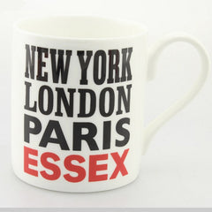 Bone China Mug - New York, Paris, London, Essex.  Lottie Morris Mug