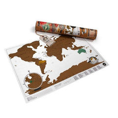 Luckies Poster Art - World Scratch Map, Travel Edition