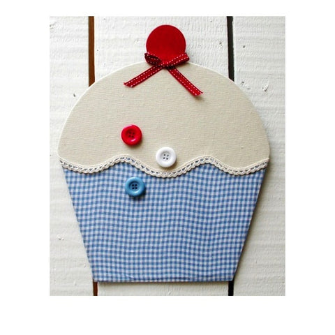 Memo Board - Blue Gingham