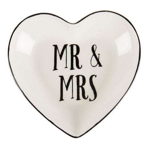 Sass and Belle Mr and Mrs ring holder dish - Trinket dish