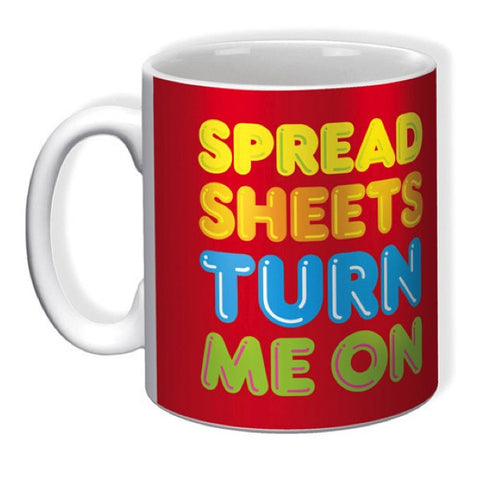 Brainbox Candy Boxed Ceramic Mug - Spreadsheets Turn me On