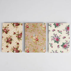Pocket sized Notebook - Vintage Rose design, Plain paper Notebook