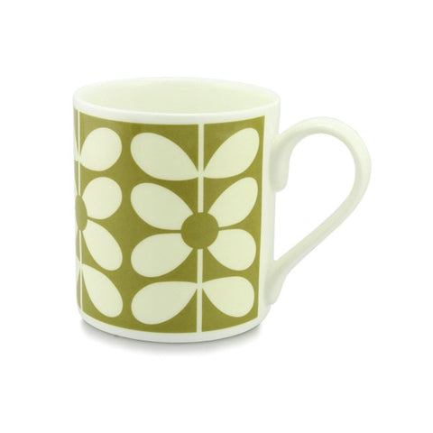 Orla Kiely Bone China Mug - 60's Stem Olive Design