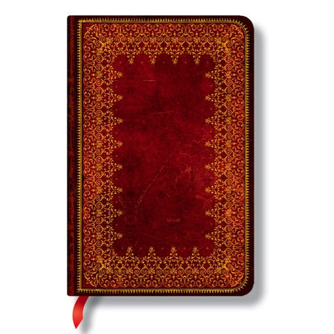Notebook - Paperblanks Red Foiled Faux Leather Mini