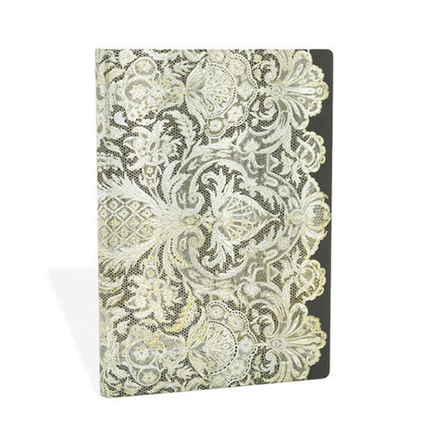 Paperblanks Ivory Veil Notebook - Paperblanks Midi Black and White