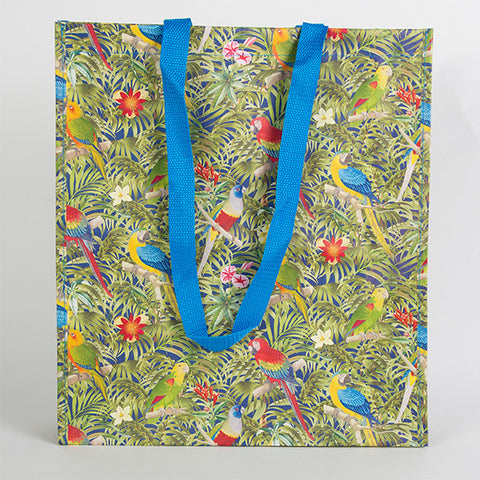 Sass and Belle Shopping Bag - Parrot Paradise design Shopping tote
