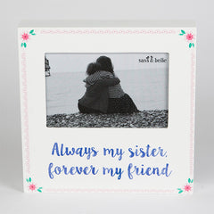 Always My Sister Flower pop Block Photo Frame - Sister frame 20cm x 20cm