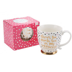 'There's too much tea in My Prosecco' Ceramic Mug - Multi patterned mug