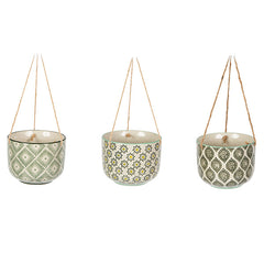 Sass and Belle Ria Ceramic Plant Pot - Hanging planter pot. Indoor or Outdoor Use