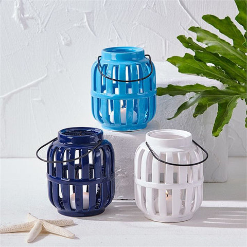 Two's Company Rhodes Lantern - Three Mediterranean Colours available