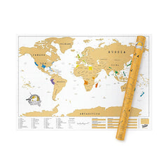 Luckies Poster Art - XL World Scratch Map. Scratch off your travels