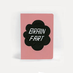 A5 sized Notebook - Bigger, Smaller, Funnier Brain Fart, Plain paper