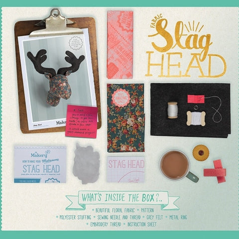 The Makery Stag's Head Craft Kit - Wild and Wolf.
