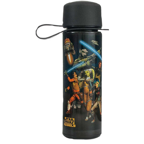 Star Wars Rebels Drinking Bottle, Plastic, Black. 475ml capacity