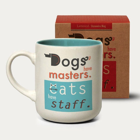 Urban Graphic Boxed Mug - Dogs have Masters, Cats have servants