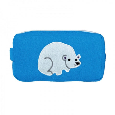 Polar Bear Design Washbag - Zip up washbag, towelling