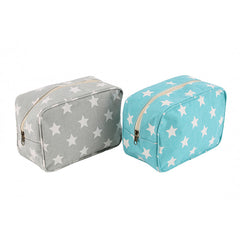Canvas Washbag Starry Skies design Zip Up Cotton Washbag - Two colours