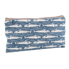 Blue Fish Design Fabric Washbag - Beauty Accessories